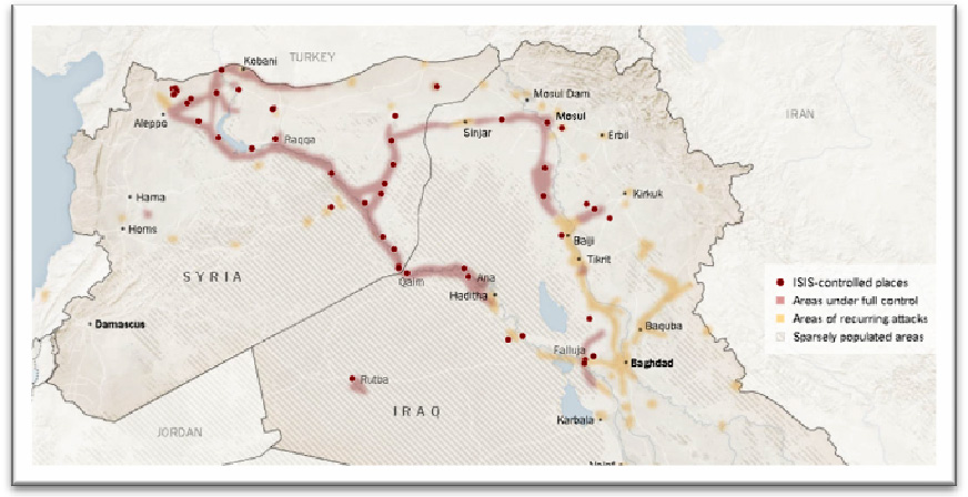Figure 1. Areas controlled by ISIS Source: The Wall Street Journal